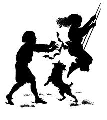 images silhouette of children swinging