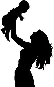 mother lifting child